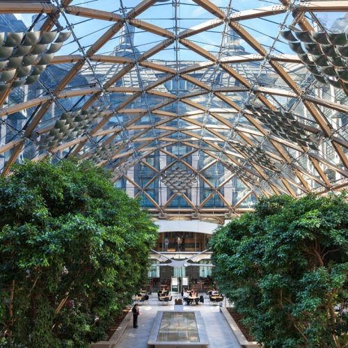 Interior Atrium of Portcullis House in Westminster, London, UK