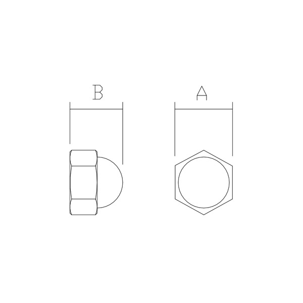 Dome Nut Dimensions