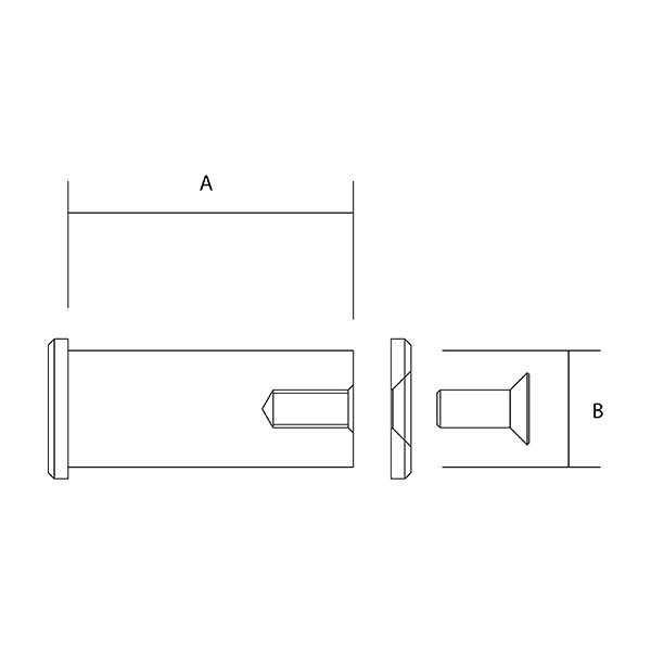 Double Headed Pin Dimensions