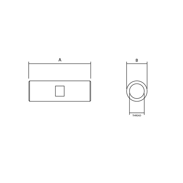 Rod Connector Dimensions