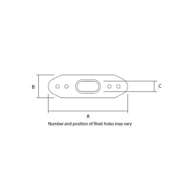 T-Terminal Backing Plate Dimensions