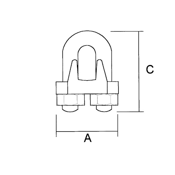 Wire Rope Grip Dimensions